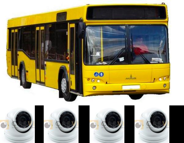 Комплект видеонаблюдения для автобуса по 969 ПП